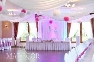 Dekoracja ślubna w Dom nad Jeziore w Silnowie